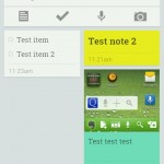 Google Keep with a few notes